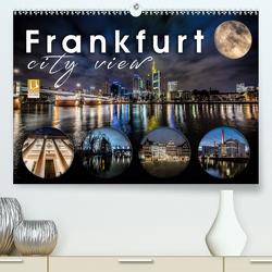 Frankfurt city view (Premium, hochwertiger DIN A2 Wandkalender 2021, Kunstdruck in Hochglanz) von Schöb,  Monika