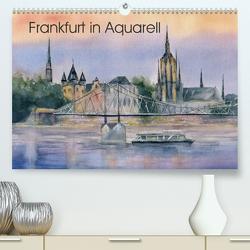 Frankfurt in Aquarell (Premium, hochwertiger DIN A2 Wandkalender 2020, Kunstdruck in Hochglanz) von Krause,  Jitka