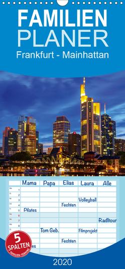 Frankfurt – Mainhattan – Familienplaner hoch (Wandkalender 2020 , 21 cm x 45 cm, hoch) von greatif