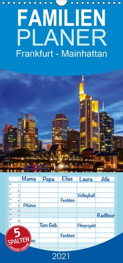 Frankfurt – Mainhattan – Familienplaner hoch (Wandkalender 2021 , 21 cm x 45 cm, hoch) von greatif