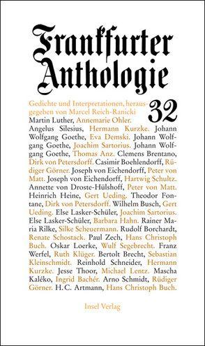 Frankfurter Anthologie. Gedichte und Interpretationen von Reich-Ranicki,  Marcel