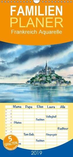 Frankreich Aquarelle – Familienplaner hoch (Wandkalender 2019 , 21 cm x 45 cm, hoch) von Krause,  Jitka