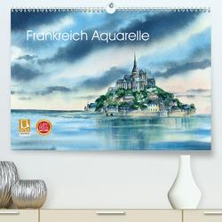 Frankreich Aquarelle (Premium, hochwertiger DIN A2 Wandkalender 2021, Kunstdruck in Hochglanz) von Krause,  Jitka