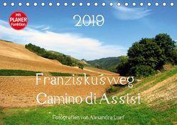 Franziskusweg – Camino di Assisi (Tischkalender 2019 DIN A5 quer) von Luef,  Alexandra