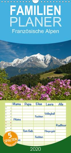 Französische Alpen – Familienplaner hoch (Wandkalender 2020 , 21 cm x 45 cm, hoch) von Scholz,  Frauke