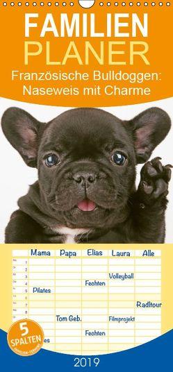Französische Bulldoggen: Naseweis mit Charme – Familienplaner hoch (Wandkalender 2019 , 21 cm x 45 cm, hoch) von CALVENDO