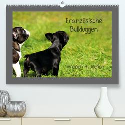 Französische Bulldoggen (Premium, hochwertiger DIN A2 Wandkalender 2021, Kunstdruck in Hochglanz) von Hultsch,  Heike