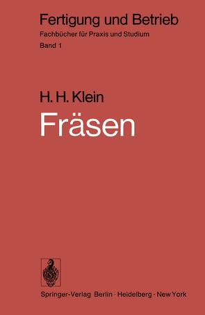 Fräsen von Klein,  H.H.