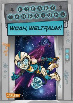 Freaky Fahrstuhl 2: Woah, Weltraum! von Tielmann,  Christian, Zapf