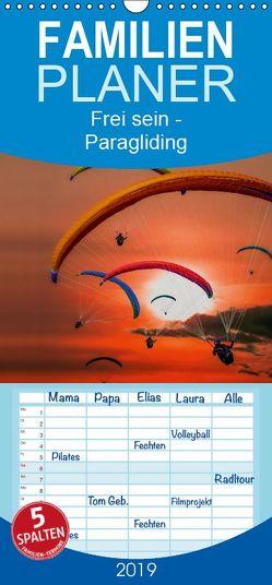 Frei sein – Paragliding – Familienplaner hoch (Wandkalender 2019 , 21 cm x 45 cm, hoch) von Roder,  Peter