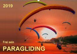 Frei sein – Paragliding (Wandkalender 2019 DIN A2 quer) von Roder,  Peter
