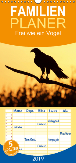 Frei wie ein Vogel – Familienplaner hoch (Wandkalender 2019 , 21 cm x 45 cm, hoch) von Barth,  Carolin