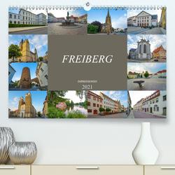 Freiberg Impressionen (Premium, hochwertiger DIN A2 Wandkalender 2021, Kunstdruck in Hochglanz) von Meutzner,  Dirk