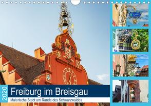 Freiburg im Breisgau. Malerische Stadt am Rande des Schwarzwaldes (Wandkalender 2020 DIN A4 quer) von Woehlke,  Juergen