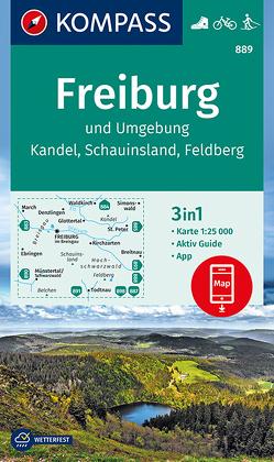 Freiburg und Umgebung, Kandel, Schauinsland, Feldberg von KOMPASS-Karten GmbH