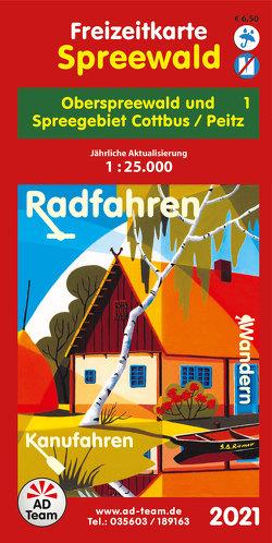 Freizeitkarte Spreewald – 1 (Ausgabe 2021)