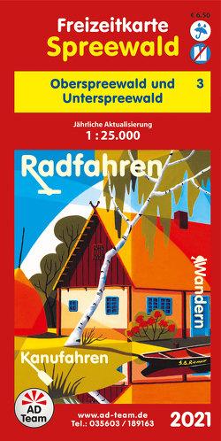 Freizeitkarte Spreewald – 3 (Ausgabe 2021)