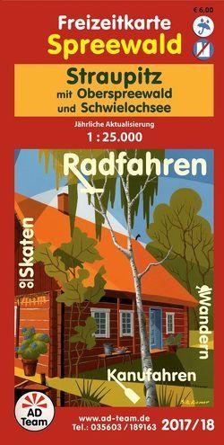 Freizeitkarte Spreewald Straupitz (Ausgabe 2017/18)