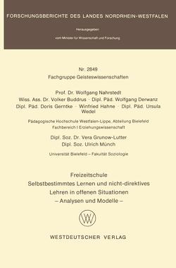 Freizeitschule von Nahrstedt,  Wolfgang