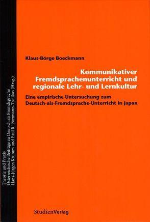 Fremdsprachenunterricht und regionale Lehr- und Lernkultur von Boeckmann,  Klaus-Börge