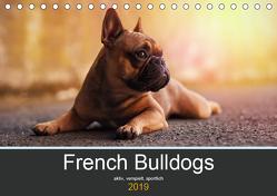 French Bulldog aktiv, verspielt, sportlich (Tischkalender 2019 DIN A5 quer) von Block,  Janina
