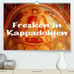 Fresken in Kappadokien (Premium, hochwertiger DIN A2 Wandkalender 2021, Kunstdruck in Hochglanz) von stegen,  joern
