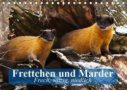 Frettchen und Marder. Frech, witzig, niedlich (Tischkalender 2019 DIN A5 quer)