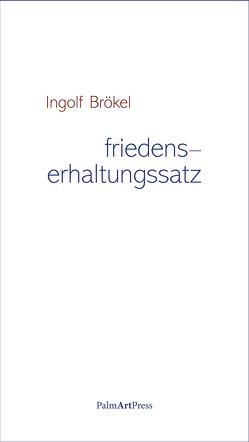 friedenserhaltungssatz von Brökel,  Ingolf