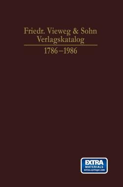 Friedr. Vieweg & Sohn Verlagskatalog von Lube,  Frank