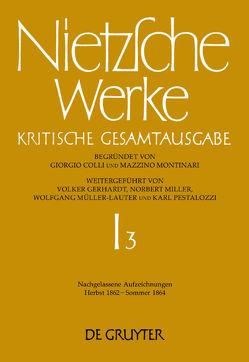 Friedrich Nietzsche: Werke. Abteilung 1 / Nachgelassene Aufzeichnungen (Herbst 1862 – Sommer 1864) von Figl,  Johann, Hoedl,  Hans Gerald, Rath,  Ingo W.