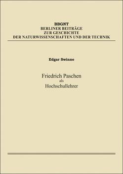 Friedrich Paschen als Hochschullehrer von Swinne,  Edgar