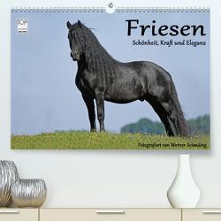 Friesen – Schönheit, Kraft und Eleganz (Premium, hochwertiger DIN A2 Wandkalender 2021, Kunstdruck in Hochglanz) von Schmäing,  Werner