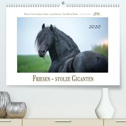 Friesen – stolze Giganten (Premium, hochwertiger DIN A2 Wandkalender 2020, Kunstdruck in Hochglanz) von Wrede,  Martina