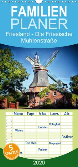 Friesland – Die Friesische Mühlenstraße – Familienplaner hoch (Wandkalender 2020 , 21 cm x 45 cm, hoch) von Roder,  Peter