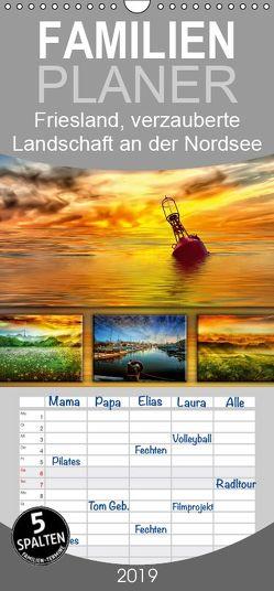 Friesland, verzauberte Landschaft an der Nordsee – Familienplaner hoch (Wandkalender 2019 , 21 cm x 45 cm, hoch) von Roder,  Peter