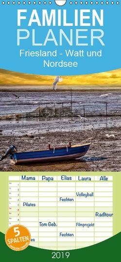 Friesland – Watt und Nordsee – Familienplaner hoch (Wandkalender 2019 , 21 cm x 45 cm, hoch) von Roder,  Peter