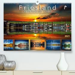 Friesland, wo die Natur sich spiegelt (Premium, hochwertiger DIN A2 Wandkalender 2021, Kunstdruck in Hochglanz) von Roder,  Peter