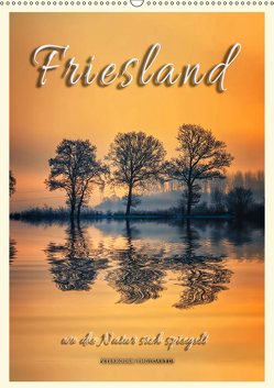 Friesland, wo die Natur sich spiegelt (Wandkalender 2019 DIN A2 hoch) von Roder,  Peter