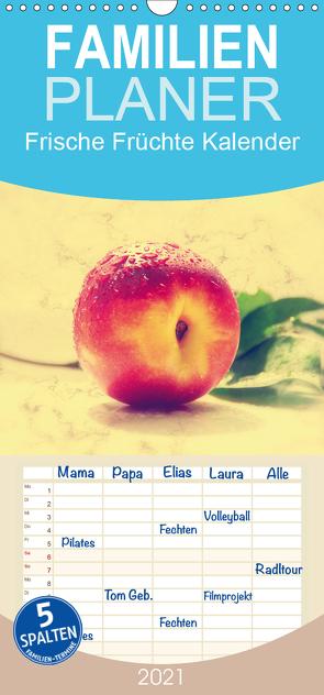 Frische Früchte Kalender – Familienplaner hoch (Wandkalender 2021 , 21 cm x 45 cm, hoch) von Riedel,  Tanja