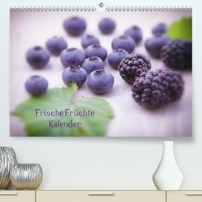 Frische Früchte Kalender (Premium, hochwertiger DIN A2 Wandkalender 2021, Kunstdruck in Hochglanz) von Riedel,  Tanja