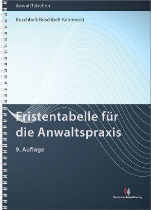 Fristentabelle von Buschbell,  Hans, Buschbell-Kaniewski,  Petra