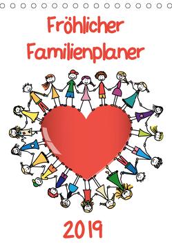 Fröhlicher Familienplaner (Tischkalender 2019 DIN A5 hoch) von / VRD,  pixelpunker.de