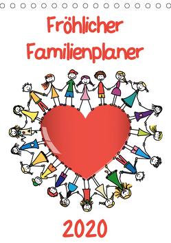 Fröhlicher Familienplaner (Tischkalender 2020 DIN A5 hoch) von / VRD,  pixelpunker.de