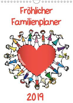 Fröhlicher Familienplaner (Wandkalender 2019 DIN A4 hoch) von / VRD,  pixelpunker.de