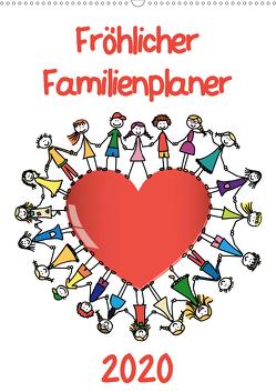 Fröhlicher Familienplaner (Wandkalender 2020 DIN A2 hoch) von / VRD,  pixelpunker.de
