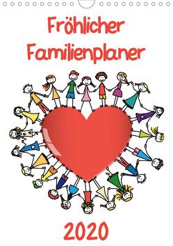 Fröhlicher Familienplaner (Wandkalender 2020 DIN A4 hoch) von / VRD,  pixelpunker.de