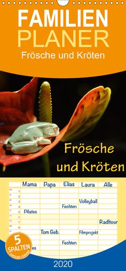 Frösche und Kröten – Familienplaner hoch (Wandkalender 2020 , 21 cm x 45 cm, hoch) von N.,  N.