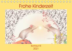 Frohe Kinderzeit (Tischkalender 2021 DIN A5 quer) von Bonheur18