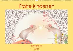 Frohe Kinderzeit (Wandkalender 2021 DIN A2 quer) von Bonheur18
