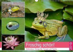 Froschig schön! Dekorative Könige der Tümpel und Teiche (Wandkalender 2019 DIN A3 quer) von Hurley,  Rose